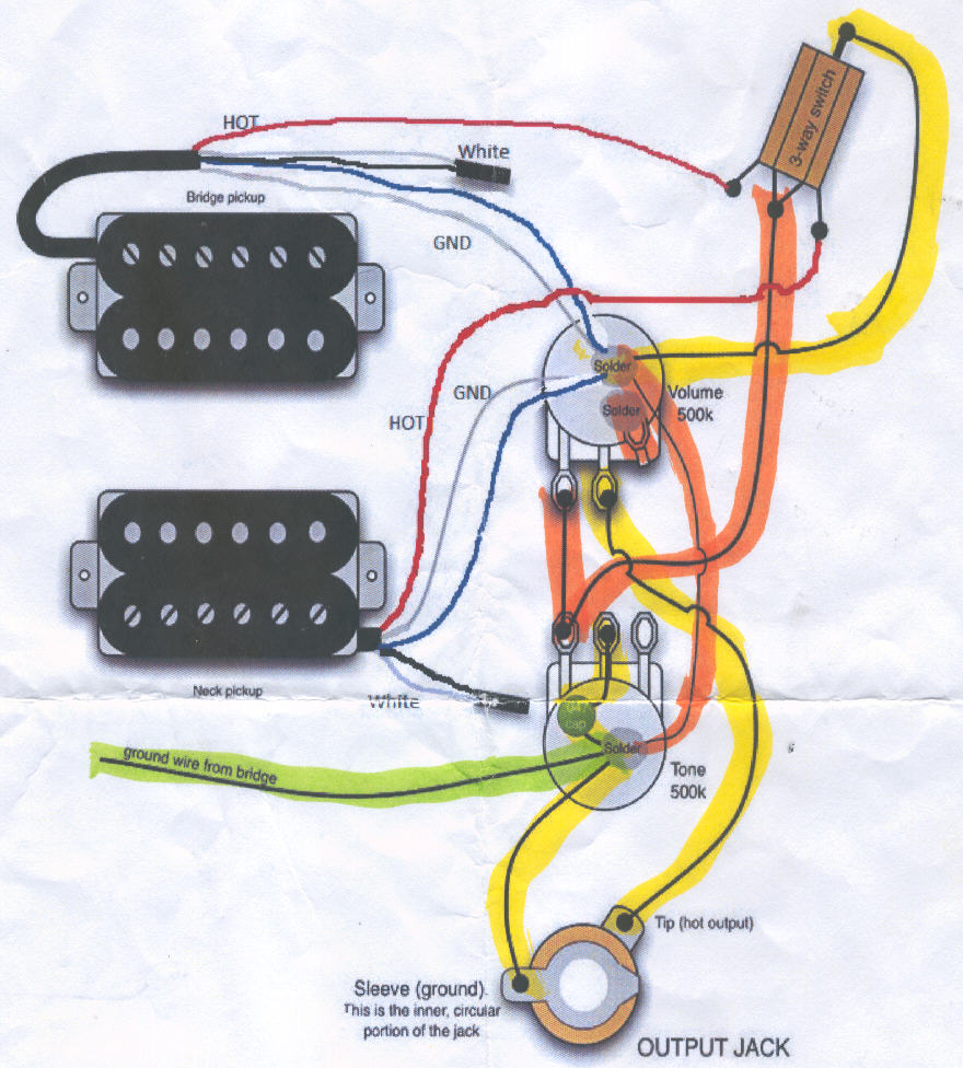 William Bill Doney Ncc Building Guitars Guitar Output Jack Wiring Diagram Schematic
